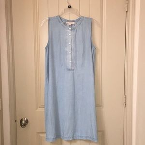 Loft by anne taylor Chambray Denimpopover Dress M